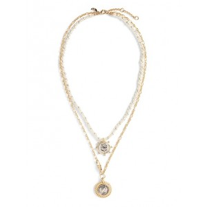 Freshwater Pearl & Coin Necklace