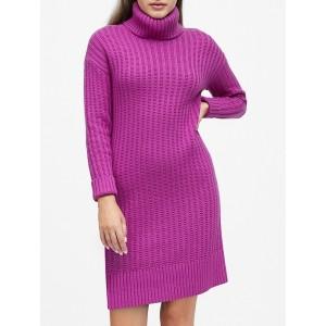 Chunky Turtleneck Sweater Dress