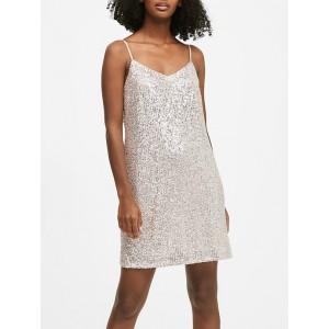 Petite Sequin Slip Dress