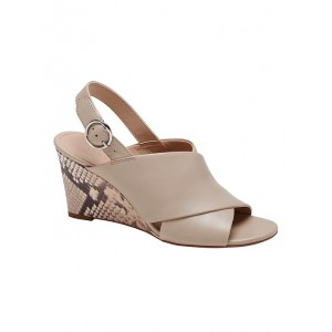 Crossover Wedge Sandal