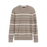 Silk Linen Stripe Sweater