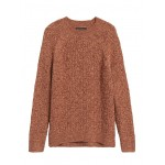 Marled Cable-Knit Sweater