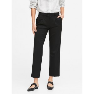 JAPAN EXCLUSIVE Logan Trouser-Fit Pleated Cropped Pants