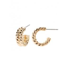 Thick Line Hoop Earrings