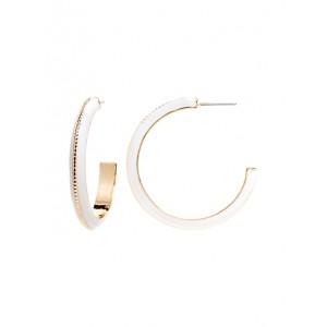 Medium Enamel Hoop Earrings