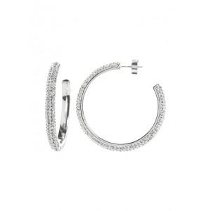 Pave Hoop Earrings