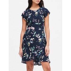 Petite EcoVero™ Flutter-Sleeve Mini Dress