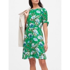 EcoVero™ Puff-Sleeve Dress