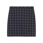 Petite Plaid Bi-Stretch Mini Skirt