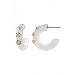 Small Resin Hoop Earrings