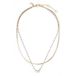 Black Bead Multi Chain Necklace