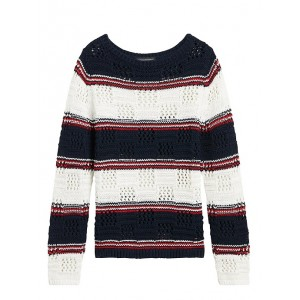 Pointelle Boat-Neck Sweater