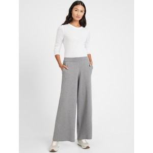 Wide-Leg Sweater Pant