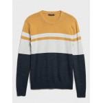 Organic Cotton Stripe Sweater
