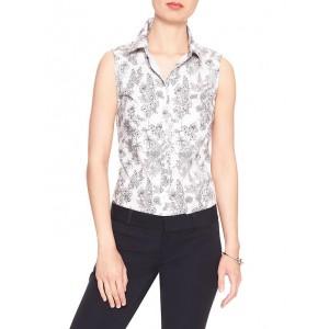 Sleeveless Print Tailored Shirt