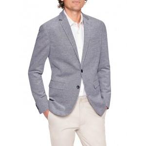 Slim-Fit Pique Cotton Blazer