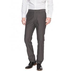 Aiden-Fit Grey Herringbone Pant