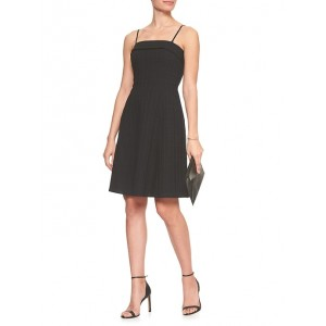 Textured Strapless Fit and Flare Dress