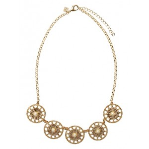 Medallion Pearl Statement Necklace