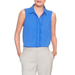 Petite Drapey Classic Scallop Embellished Top