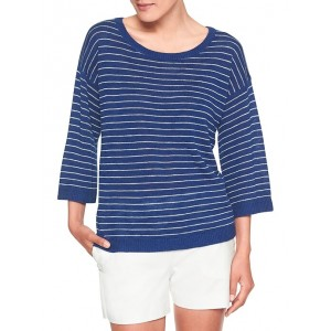 3/4 Sleeve Stripe Sweater