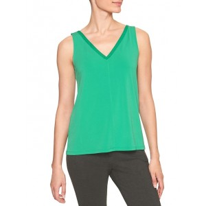 Crepe Cut Out Vee-Back Top