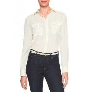 Double-Pocket Drapey Classic Shirt