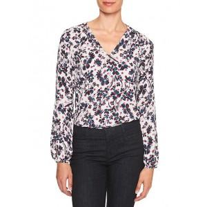 Print Button-Sleeve Classic Shirt