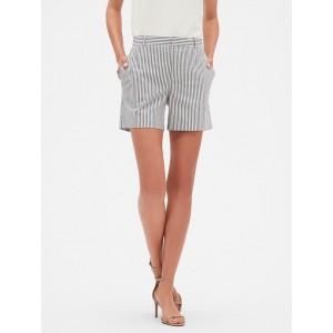 Petite Tailored Stripe Yarn Dyed Pique Short
