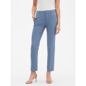 Petite Machine Washable Curvy Ryan Slate Blue Suit Pant