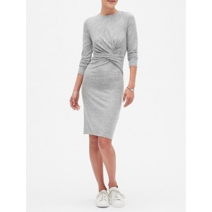 LuxeSpun Ruched Sheath Dress