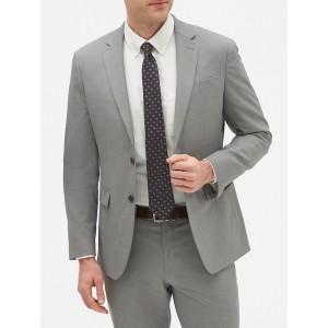 Slim-Fit Grey Textured Blazer