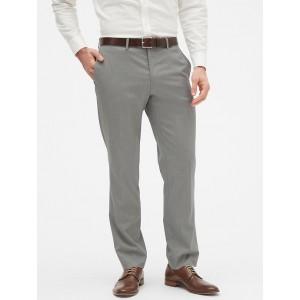 Slim-Fit Grey Textured Trouser