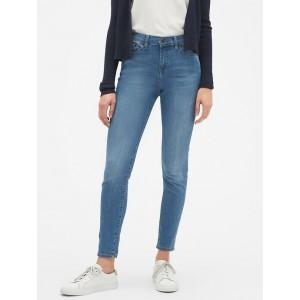 Petite Sculpt Light Wash Side-Slit Skinny Jean