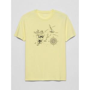 Nautical Map Graphic T Shirt