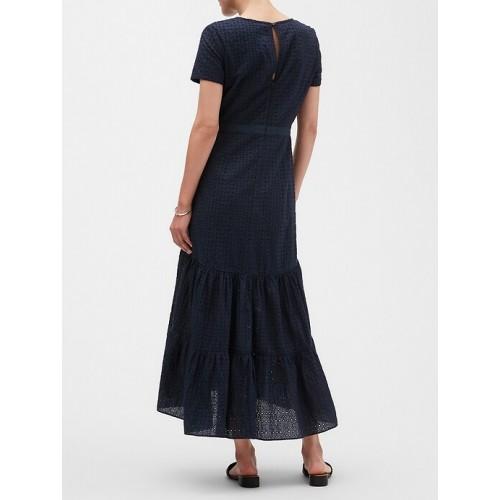 바나나리퍼블릭 팩토리 Eyelet Midi Dress