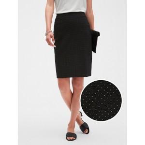 Petite Textured Pindot Knit Pencil Skirt