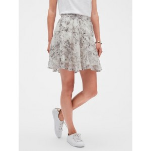 Snake Print Flirty Fit and Flare Skirt