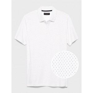 Microprint Dress Polo