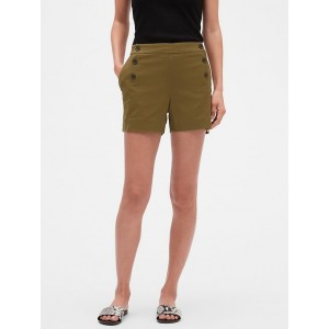 Petite Side Zip Sailor Shorts - 4 inch inseam
