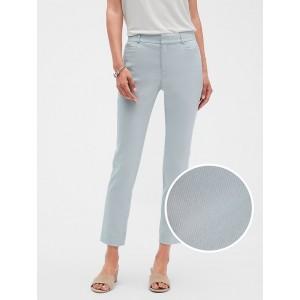 Petite Curvy Sloan Stripe Jacquard Slim Ankle Pant