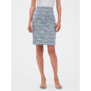 Tweed Knit Pencil Skirt