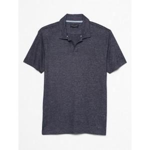 Linen Blend Johnny Collar Shirt