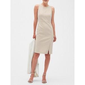 Petite Pinstripe Sheath Dress