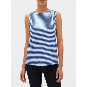 Stripe Tie-Back Designer T Shirt
