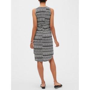 Petite Knot Back Midi Dress