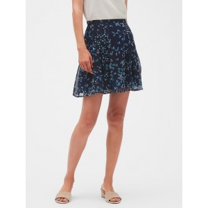 Petite Crinkle Chiffon Fit and Flare Skirt