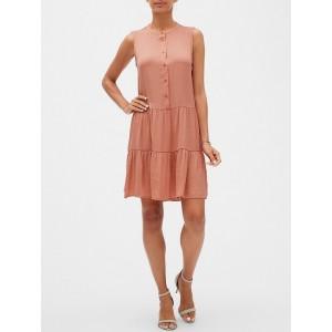 Petite Flounce Swing Shift Dress