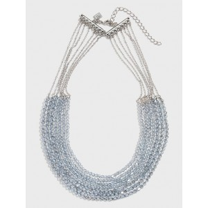 Multi Translucent Beaded Necklace
