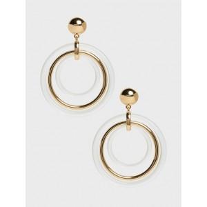 Triple Lucite Hoop Earrings
